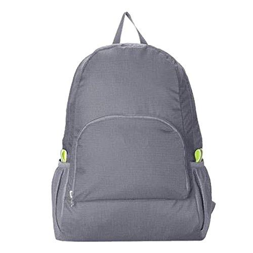 Generic 20 - 25 Liter Daypack / Rucksack, Wasserdicht, zusammenfaltbare Reisetasche, Freizeitrucksack - Grau