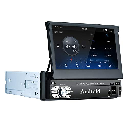 LEXXSON Android 1 DIN Autoradio mit Navi, Autoradio GPS Bluetooth AM/FM/RDS Radio Unterstützt WiFi USB SD Freisprechanruf Spiegel Link Lenkradsteuerung (1 G RAM+ 16G ROM)