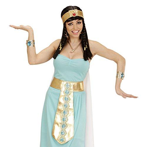 Amakando Cadena Dorada Cleopatra Collar Egipcio Collar de Serpiente Reina Accesorio Disfraz Diosa Antigua Gargantilla de Serpiente faran Joyas egipcia
