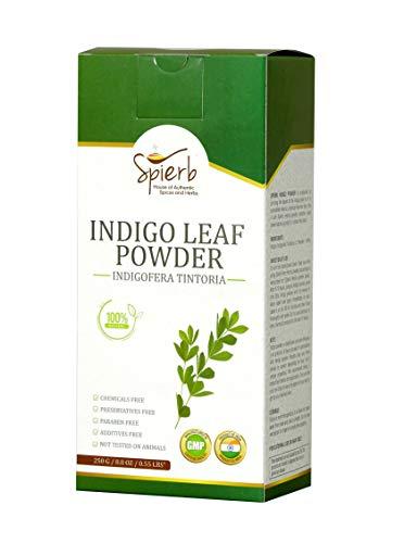 Spierb Indigo Powder 250g pour cheveux - Utiliser avec de la poudre de henné pour colorer...