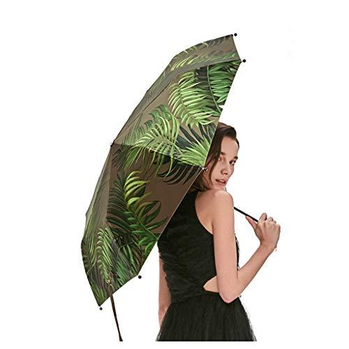 Sonnenschirm Sonnenschutz Kleiner Schwarzer Regenschirm Taschenschirm Weibliche Anti-UV Palace Garden, Weit Und Exquisite, Neue Serie (Color : Green)