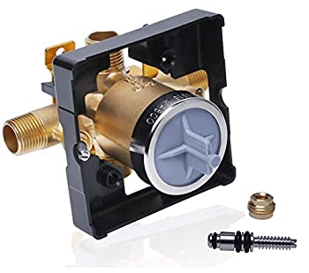 R10000-UNWS Rough-in Valve for Delta Tub Shower Faucet Trim Kits MultiChoice Universal Tub and Shower Valve Body Compatible with Delta R10000-UNBX Rough Valve with Shut Off Stops
