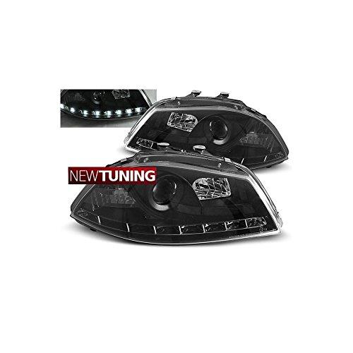Faros delantero Seat Ibiza 6L 04.02-08 - Luz de día, color negro