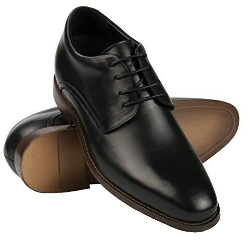 ZERIMAR Zapatos con Alzas Interiores Hombre con Aumento +7 cm   Zapatos Elegantes para Hombre   Zapatos de Cuero Hombre con Alza   Zapatos Hombre Casuales