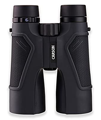 Carson 3D Series High Definition Binoculars with ED Glass, Black, 10 x 50mm