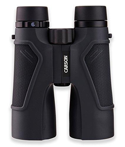 Carson TD-050ED 10x50 3D Series ED Glass HD Binoculars, Black