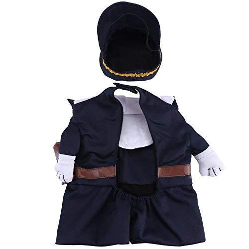 Polizist Kostüm Outfits mit Hut Haustier Hund Katze Halloween Kostüme Die Polizei für Party Weihnachten Special Events Kostüm Uniform mit Hut Funny Pet(S)