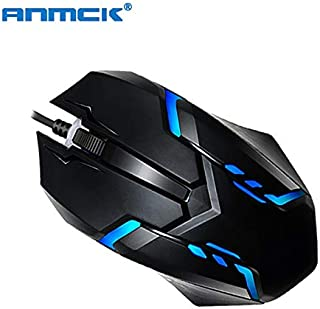 HAMISS Anmck USB Wired Gaming Mouse for Computer Ergonomic Mini Optical Gamer Mice Professional Portable Game Mause for Laptop Desktop