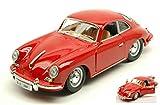 Burago Model Compatibile con Porsche 356 B Coupe 1961 Red 1:24 DIECAST BU22079R