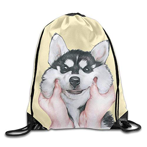 Dutch Pinch The Cute Siberian Husky - Mochila de Viaje con cordón para Perro