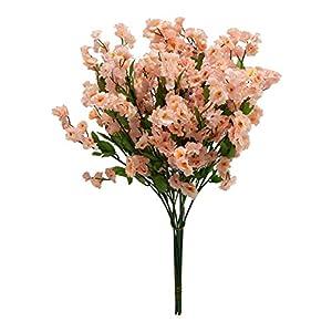 12 Baby's Breath ~ Beige Lt Pink~ Gypsophila Silk Wedding Flowers Centerpieces