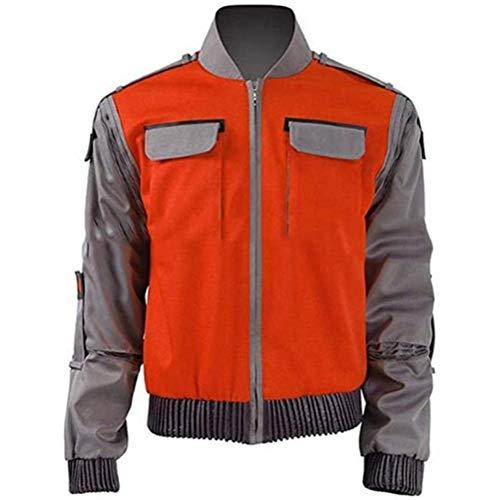 QYF Zurück in die Zukunft orange Jacke Jr Marlene Seamus Marty McFly Kostüm Mantel Outwear Männer Frauen Cosplay Halloween Karneval Outfit (Größe : XXL)