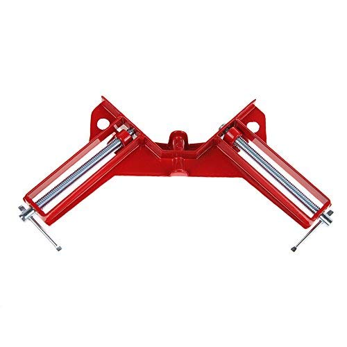 4-inch Right Angle Corner Clamp 90 Degree Clamp Miter Picture Frame Clamp for Woodworking Kit Vise Framing Tool (Red-4pcs)