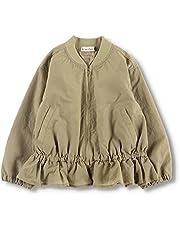 [ブランシェス] 撥水加工 裾フリル ジャケット 女の子 キッズ ガールズ ジャンパー アウター 裏地付き