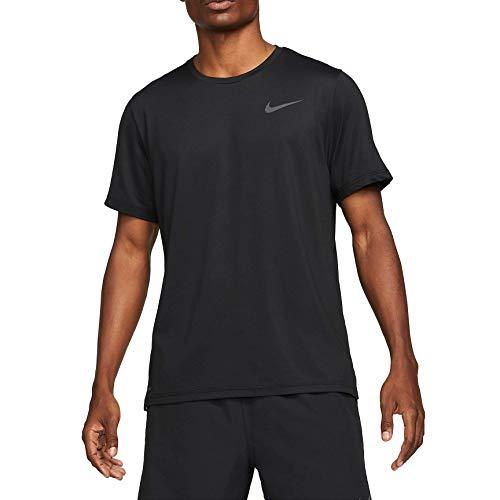 NIKE Camiseta para Hombre NP DF Hpr Dry, Hombre, Camiseta, CZ1181, Negro y Gris Oscuro, Extra-Large