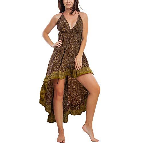Toocool - Vestito Donna Abito Asimmetrico Gipsy Ibiza Etnico Boho Chic RK-102 [Taglia Unica,Fantasia 3]