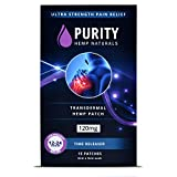 Purity Hemp Naturals Pain Relief Patch 15 ct. (120mg) 24 Hour Pain Relief for Muscle, Joint, Back, Inflammation and Sports Pain.