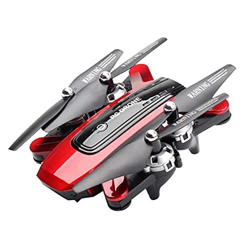 LYHY Mini Drone Nano RC Pieghevole per Regalo per Bambini Quadcopter Tascabile Portatile con Una Chiave di decollo/atterraggio, Facile da pilotare per Principianti Rosso 4K