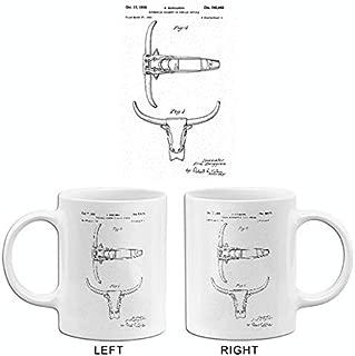 1950 - Steer Head Automobile Ornament - E. Berggren - Patent Art Mug