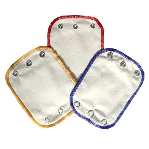 Universal Bodyverlängerungen 3er Pack aus Bio-Baumwolle, hergestellt in Deutschland (Natur, Rot/Gelb/Blau)