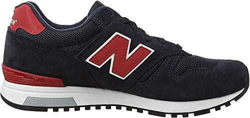 New Balance Herren 565 Sneaker, Mehrfarbig (Navy/Red), 42 EU