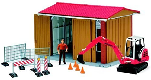 Bruder Bworld Construction Shed with Excavator, Man, and Acc by Bruder