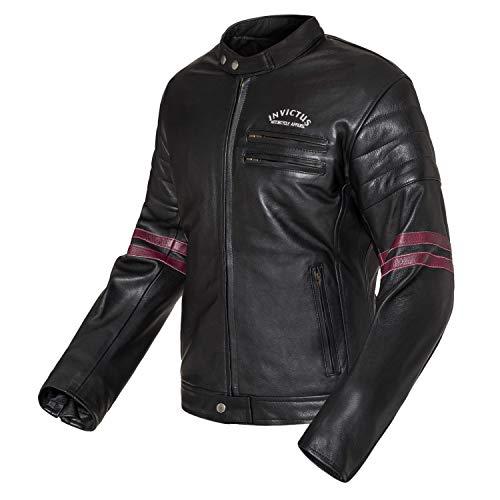 Motorrad-Jacke aus Leder, Vintage Cafe Racer Invictus Hades 2XL