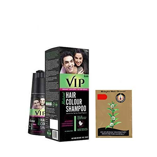 VIP Hair Shampoo 5 in 1 (Black) 180ml + Bringa Hair cleanser 15ml free