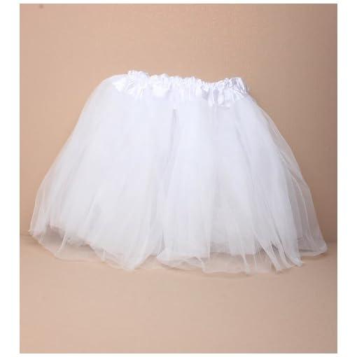 Girls-White-Tutu-Skirt-Fancy-Dress-Tutu-Dressing-Up-Costume-Halloween-Party-Dance-Class