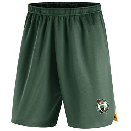 HBBDYZ Männer NBA Lakers Sport Shorts Adjustable Quick Dry Lauf Gym beiläufige Kurze Leichte Strand Shortsparent,Celtics,XXXL