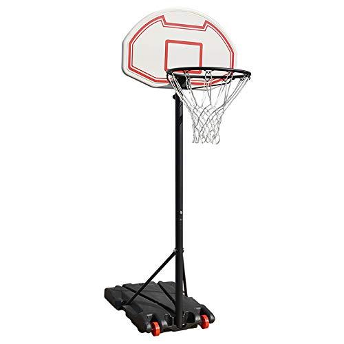 Canasta de baloncesto móvil, altura ajustable, juego de soporte para adultos y niños, sistema de baloncesto portátil de altura ajustable,Aro Profesional Ajustable de Altura de cancha de Baloncesto