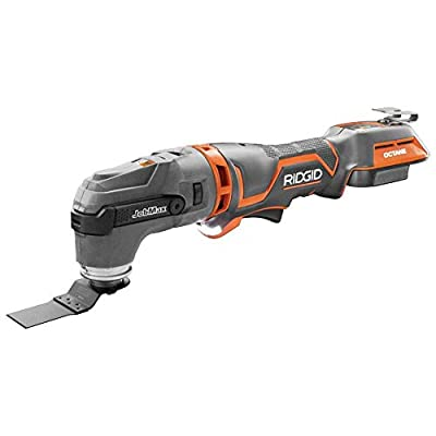 Ridgid 18-Volt OCTANE Cordless Brushless JobMax Multi-Tool with Tool-Free Head, Tool Only R862105B, (Bulk Packaged, Non-Retail Packaging) (Renewed)