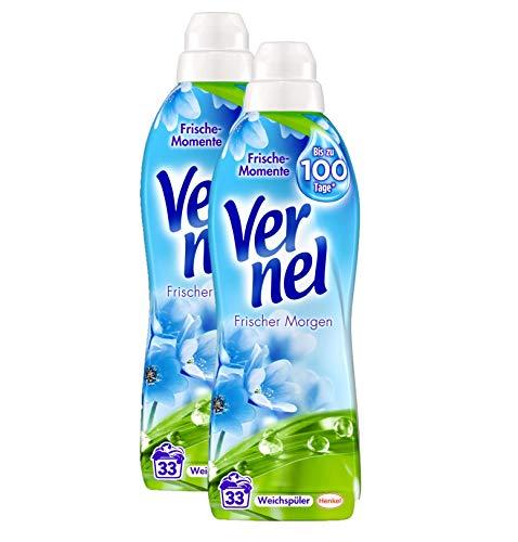 Vernel Frischer Morgen Waschmittel, 66 (2 x 33) Waschladungen Weichspüler