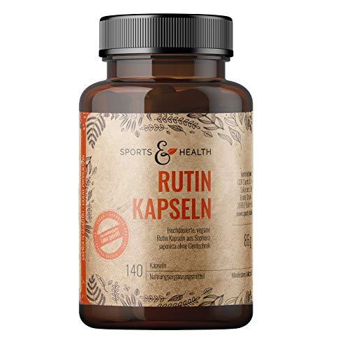 Rutin Kapseln - 140 Kapseln Rutin Hochdosiert – Aus Sophora Japonica - Beste Qualität- Abgefüllt In Deutschland - Rutin Kapseln Hochdosiert