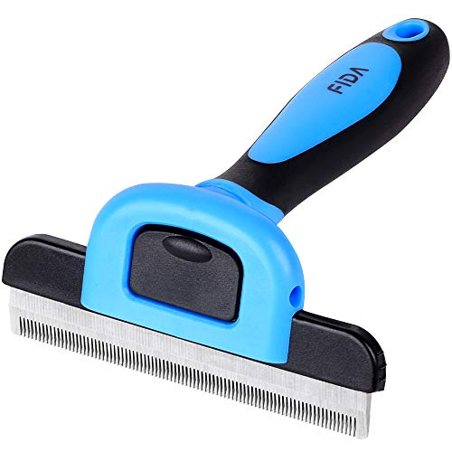 Fida Pet Grooming Brush, Professional Deshedding Tool for Small to Large Dogs or Cats, Effectively Reduce Shedding Up to 95% for Short Pet Hair