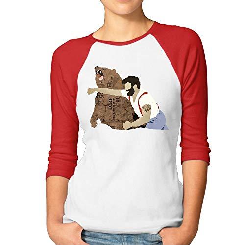 Haymaker Bear Women's 3/4 Sleeve Plain Raglan Shirts Tee