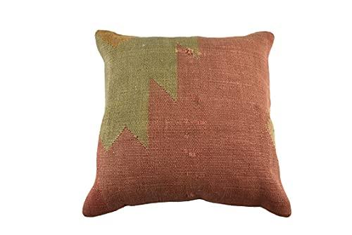 Kelim 3501 - Cojín (50 x 50 cm, funda de almohada decorativa de Kelim, 50 x 20 pulgadas), diseño de Kilim Lumbar