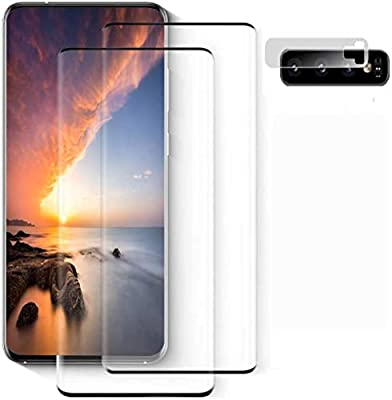 Galaxy S10 Plus Screen Protector, [2 Pack] Ultrasonic Fingerprint Compatible, HD Clear, Bubble-Free, 9H Hardness 3D Curved, Scratch-Resistant for Samsung S10 Plus Tempered Glass Screen Protector