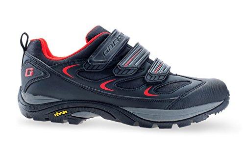 GAERNE G.Rinta gris MTB emigran los zapatos con suela Vibram roja, Gaerne Größe:38;Gaerne Farbe (+Size!):Red