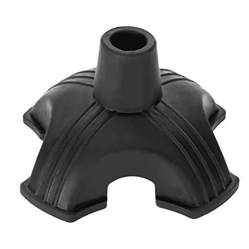 Bastones antideslizantes de 19 mm, muletas con agarre antideslizante y cuatro patas de plástico suave (1)
