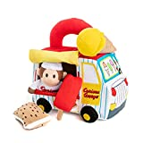 KIDS PREFERRED Curious George Ice Cream Truck Playset with Music and Plush Toys