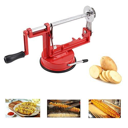 Manuelle Kartoffelschneider Twister Spiralschneider Edelstahl Kartoffelschneider für Obst, Kartoffeln, Tornado Chips, Gurken oder Karotten