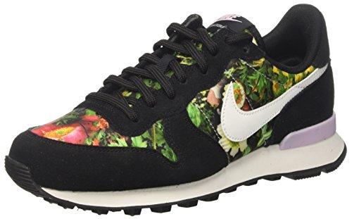 Nike W Internationalist PRM, Zapatillas Mujer, Negro (Black/Summit White/Prism Pink), 38.5 EU