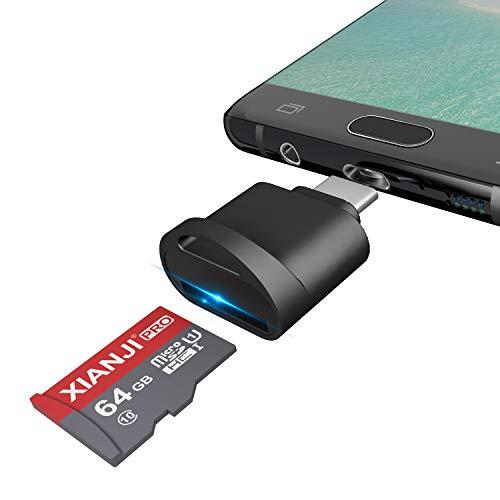 Lector de Tarjetas Micro SD USB C, Adaptador de Tarjeta de Memoria Tipo C USB para Micro SD, microSDHC, microSDXC, USB C Micro SD Card Reader