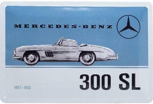 N / A Mercedes-Benz 300 SL geprägt Blechschild 20 x 30 cm Deko Auto Metallschild