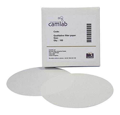 Camlab 1171067 111 grado [4] qualitativi carta da filtro e filtro rapido, diametro: 55 mm (confezione da 100)