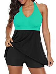 ⇒ Design - Women's one-piece swimsuits, tummy control design and soft padded Bra, make you looks charming and sexy. ⇒ Material - Womens swim dress, made of high quality. It's excellent elasticity for perfect fit, skin-friendly, breathable, comfortabl...