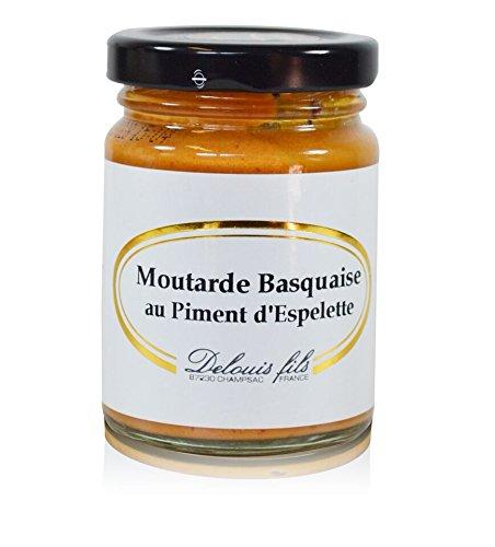 Moutarde Basquaise au Piment d'Espelette, französischer Senf mit Chili (Piment d'Espelette) 100g