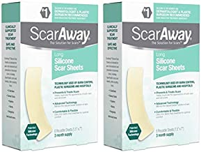 ScarAway Professional Grade Silicone Scar Sheets 6 EA, Pack of 2