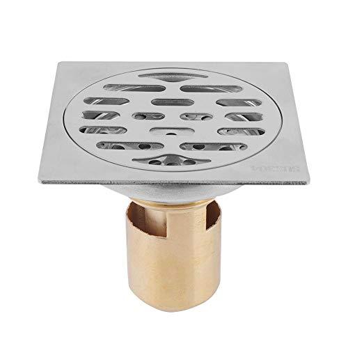 Verdickter schwerer Haushaltsbodenablauf aus Edelstahl, Duschbodenablauf im Badezimmer, Bodenablauf für Deodorantabfälle, Bodenablauf für Waschmaschinen(Ca.9 * 9 cm)